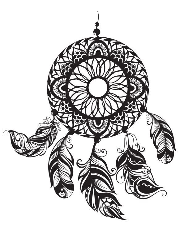 native american coloring pages - traumfänger