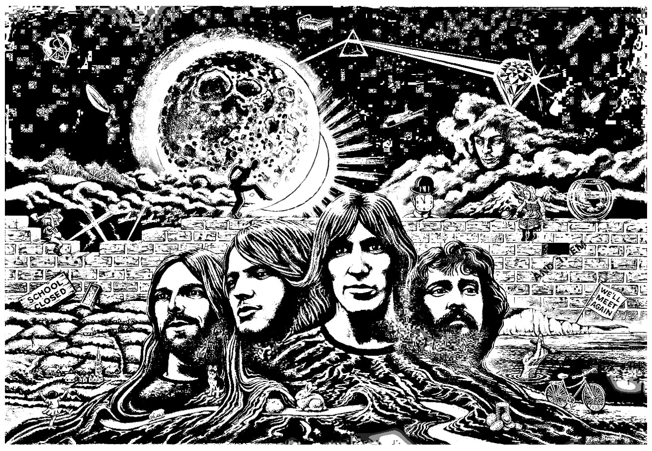 native american coloring pages - image=psychedelic coloring pink floyd psychedelism 1