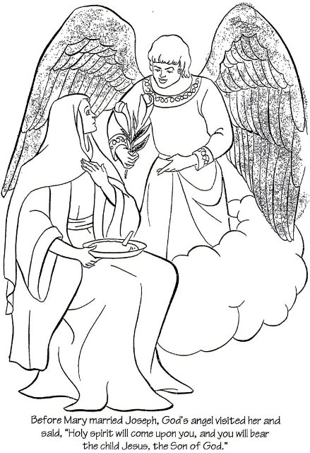 nativity scene coloring pages - Coloring Page Story 01
