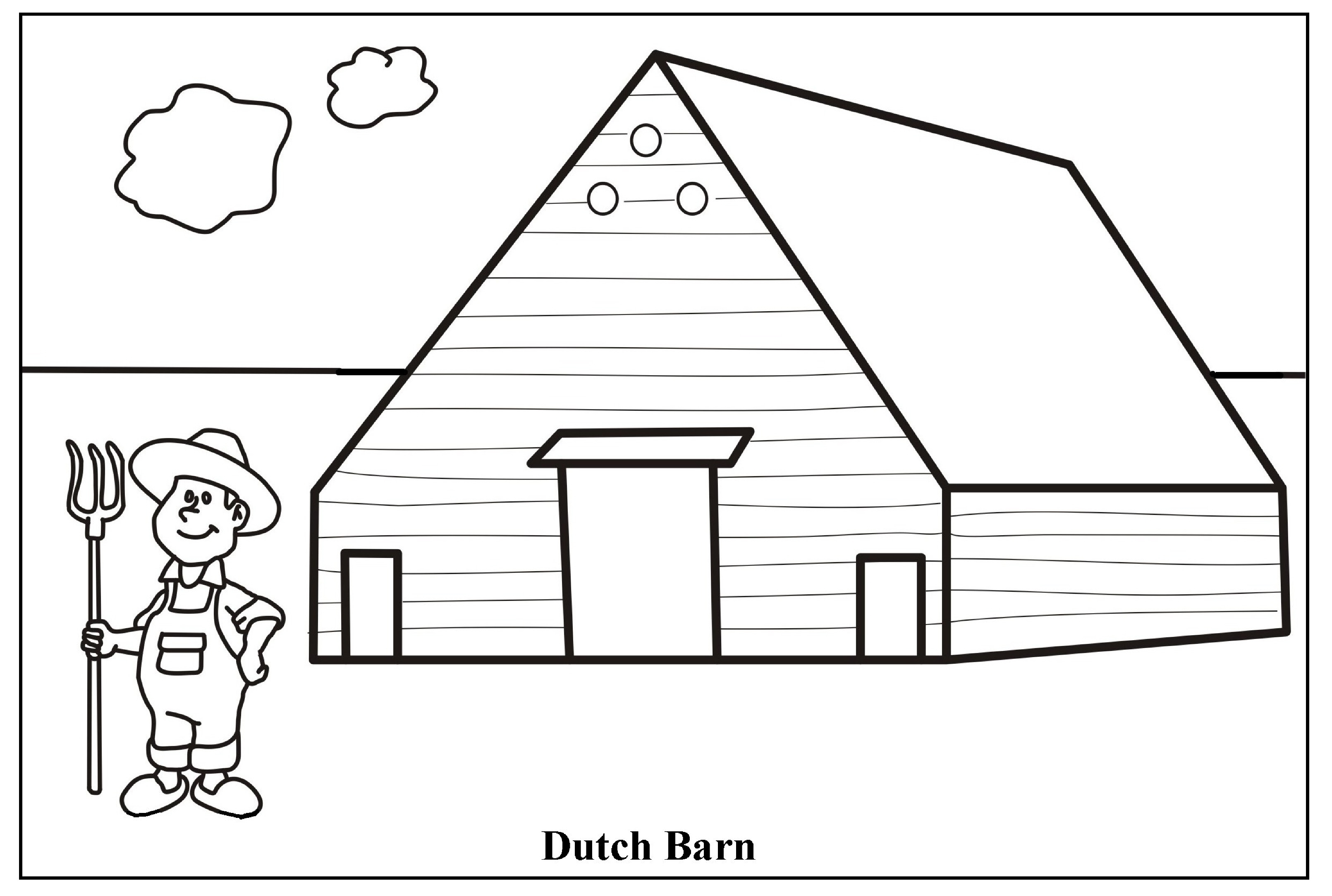 nativity scene coloring pages - farm scene coloring page barn coloring pages barns and farms coloring pages barn coloring