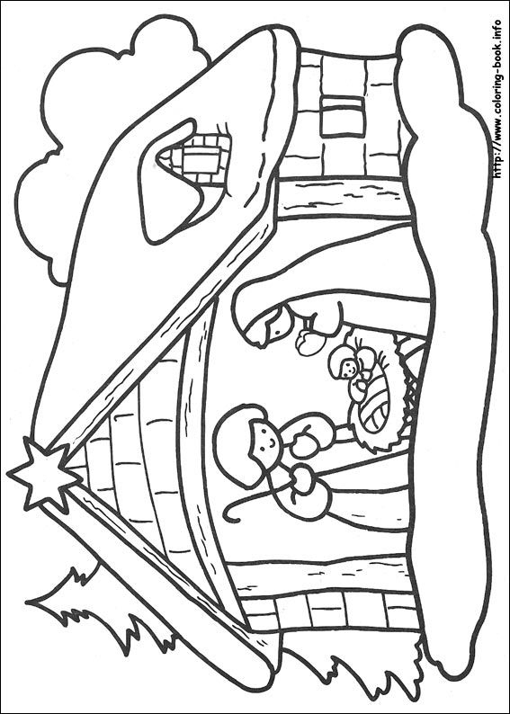 nativity scene coloring pages -