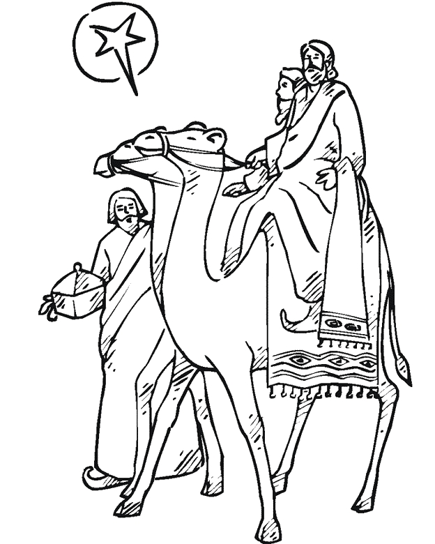 nativity scene coloring pages - 3koningentml