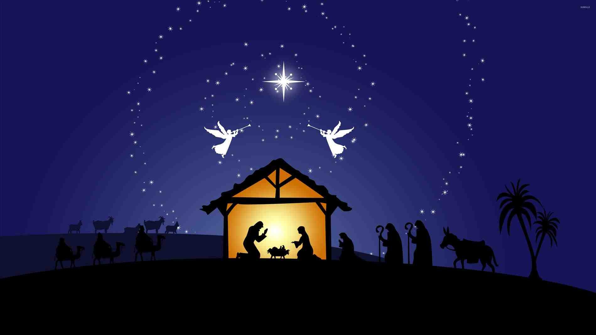 nativity scene coloring pages - merry christmas nativity images free
