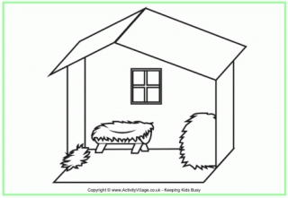 nativity scene coloring pages - nativity colouring pages