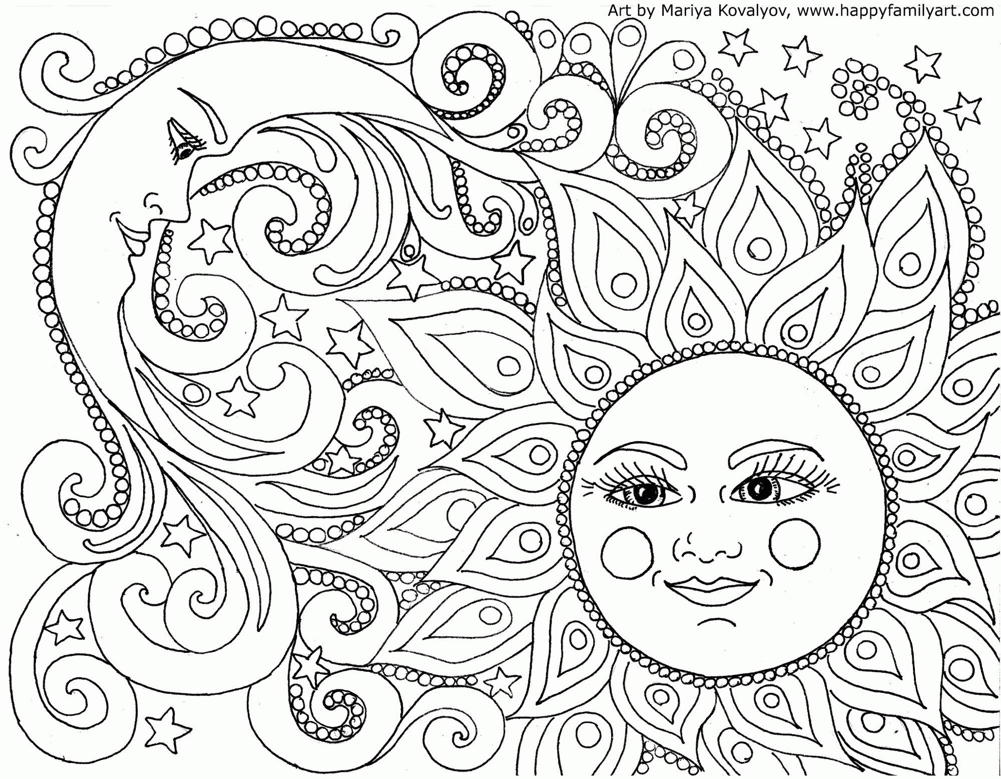 nature coloring pages for adults -