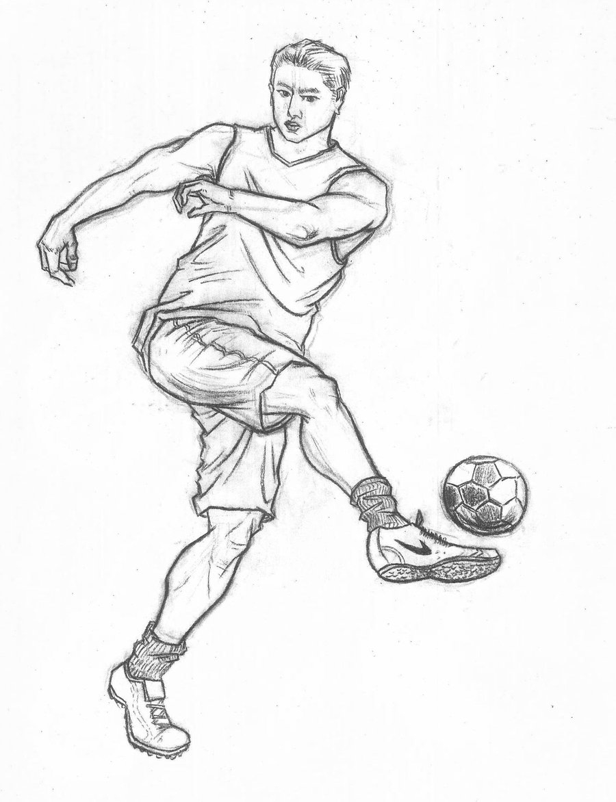 nba coloring pages - Fast sketch of sports movements football