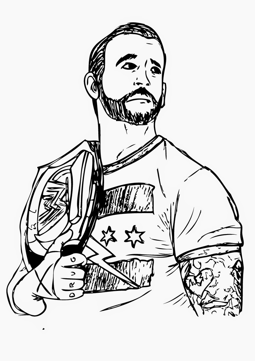 nba coloring pages - best wwe coloring pages cm punk 1541