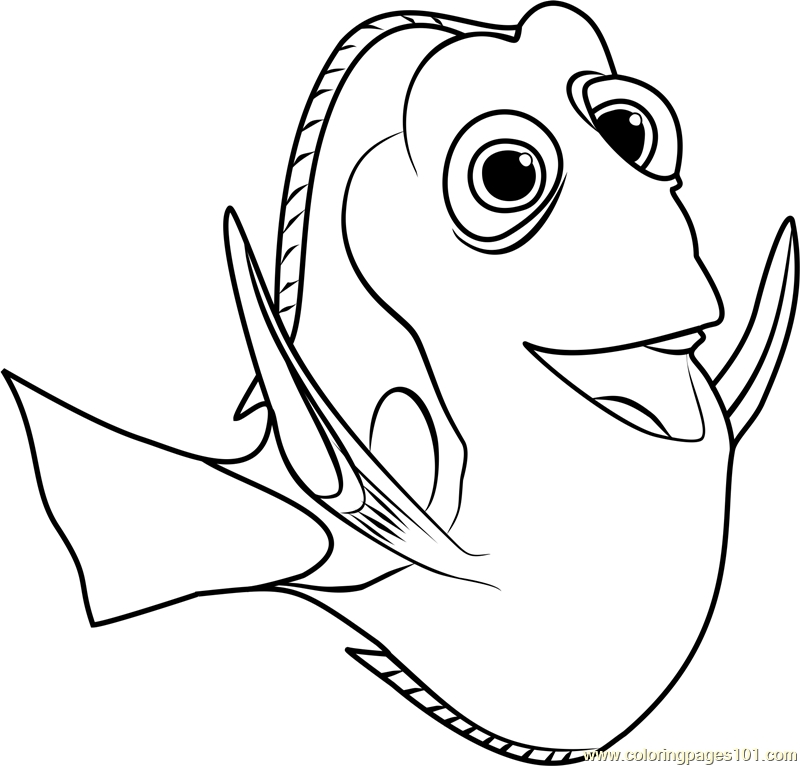 nemo and dory coloring pages - dory from finding nemo coloring pagestml