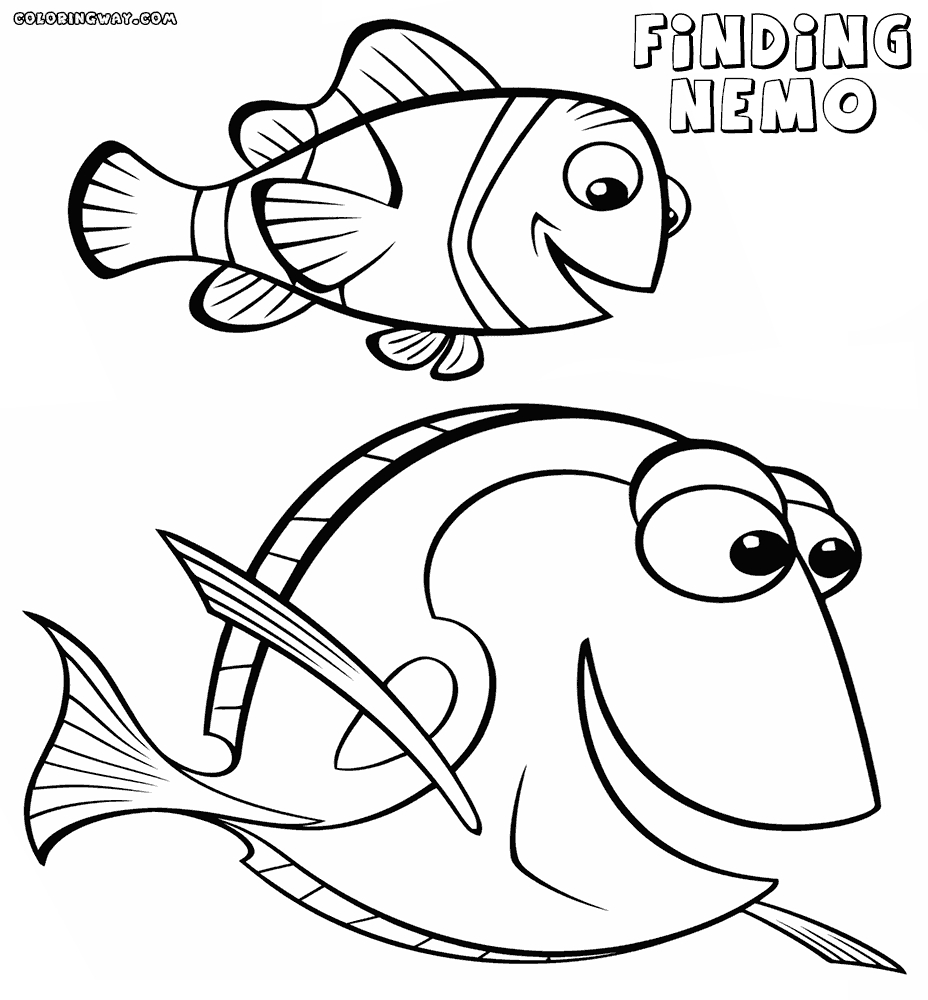 nemo and dory coloring pages - finding nemo dory coloring pages