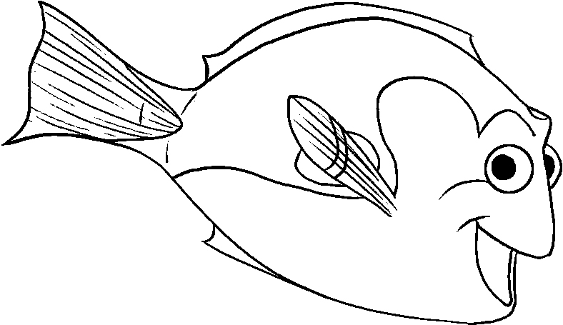 nemo and dory coloring pages -