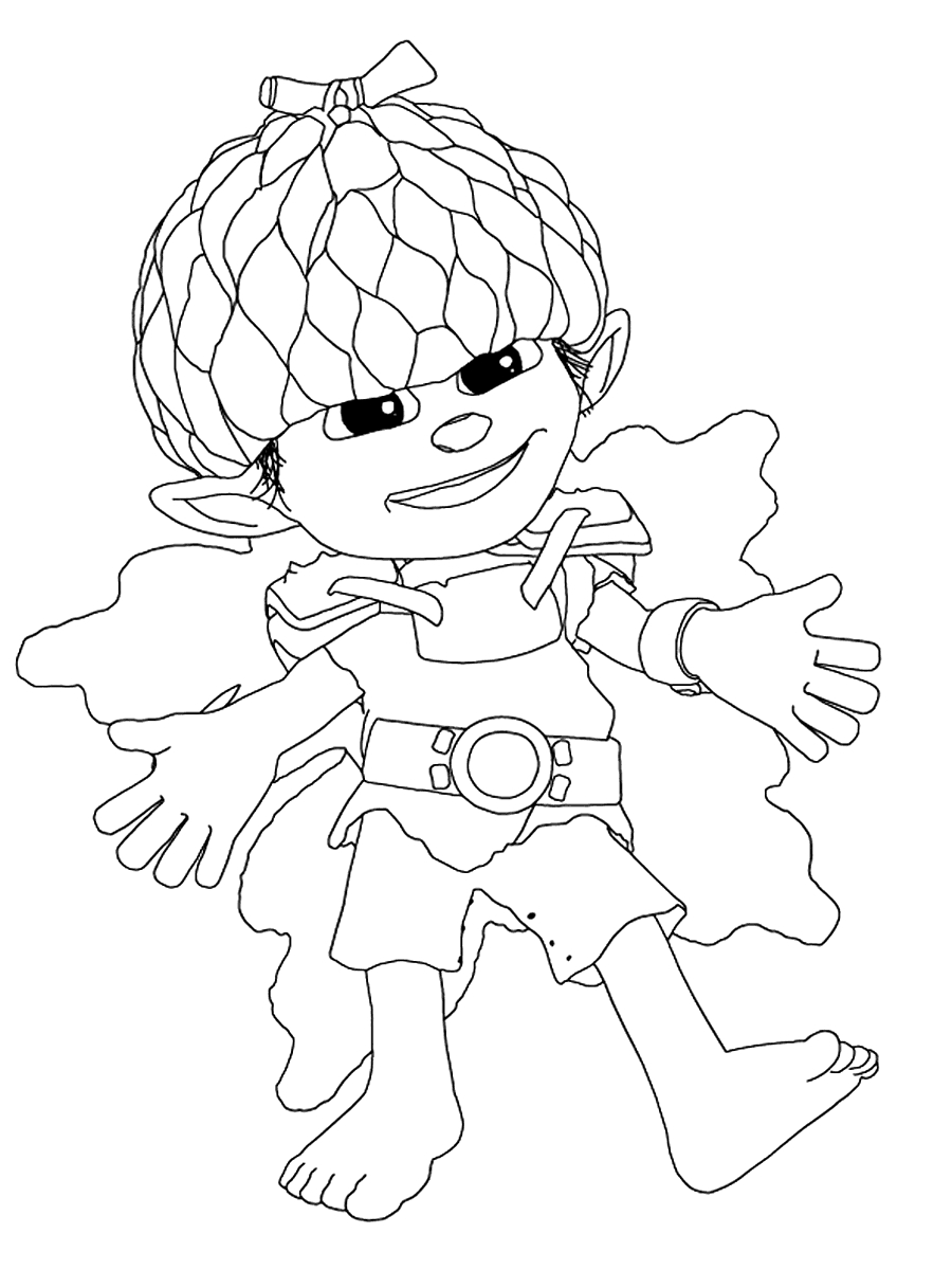 nemo coloring pages - tree fu tom