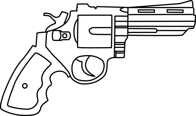 nerf gun coloring pages - 347 pistolet