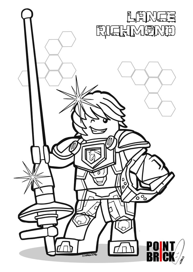 24 nexo knight coloring pages images - Knight Coloring Pages 2
