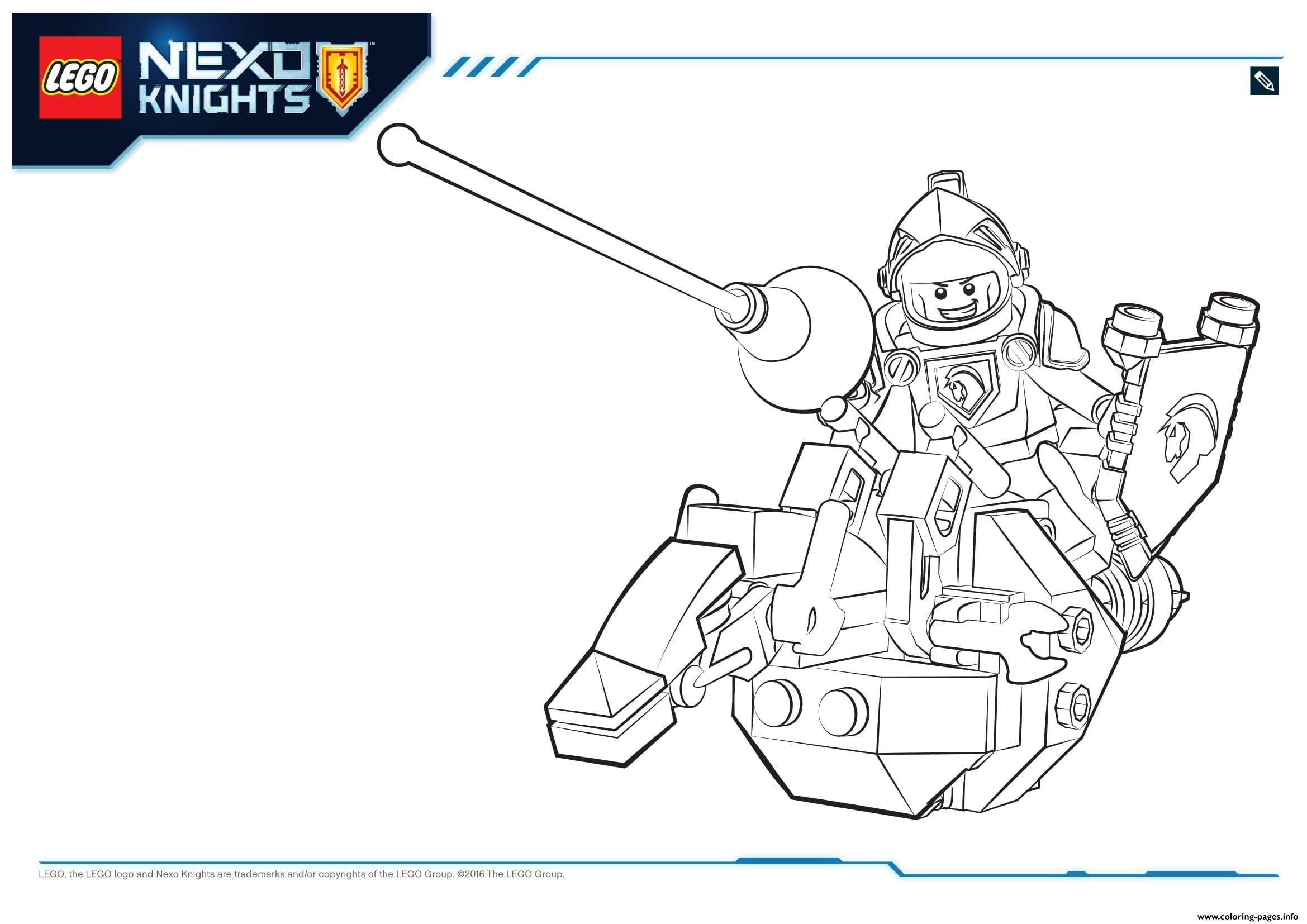 nexo knight coloring pages - lego nexo knights lance 1 printable coloring pages book