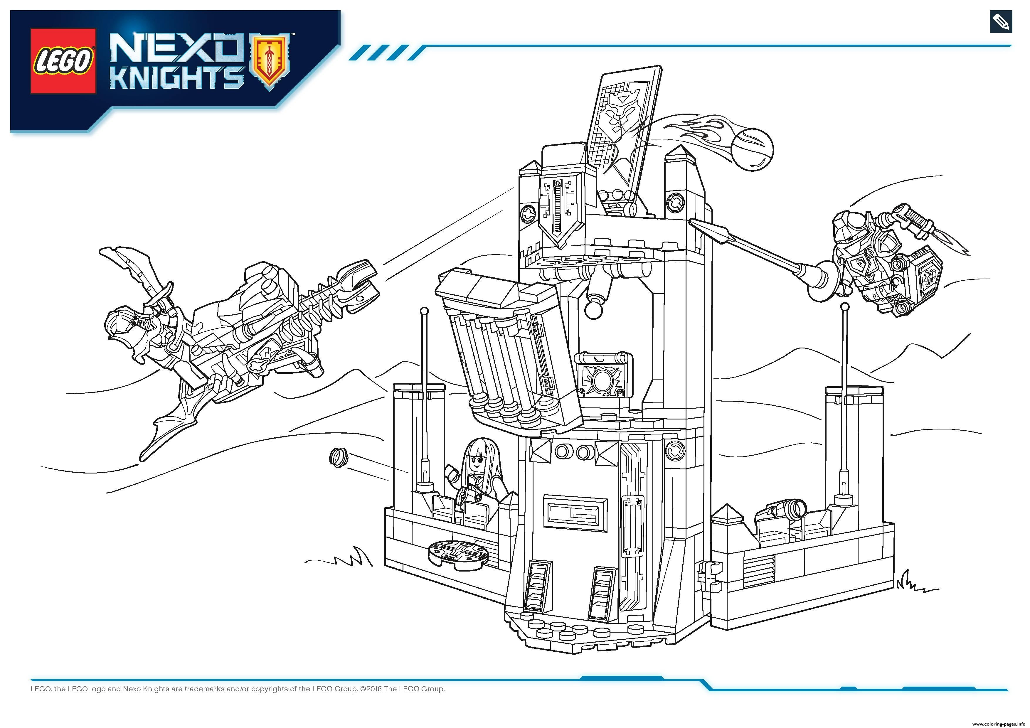 Ausmalbilder Lego Nexo Knights Malvorlagen power uff girls coloring ...
