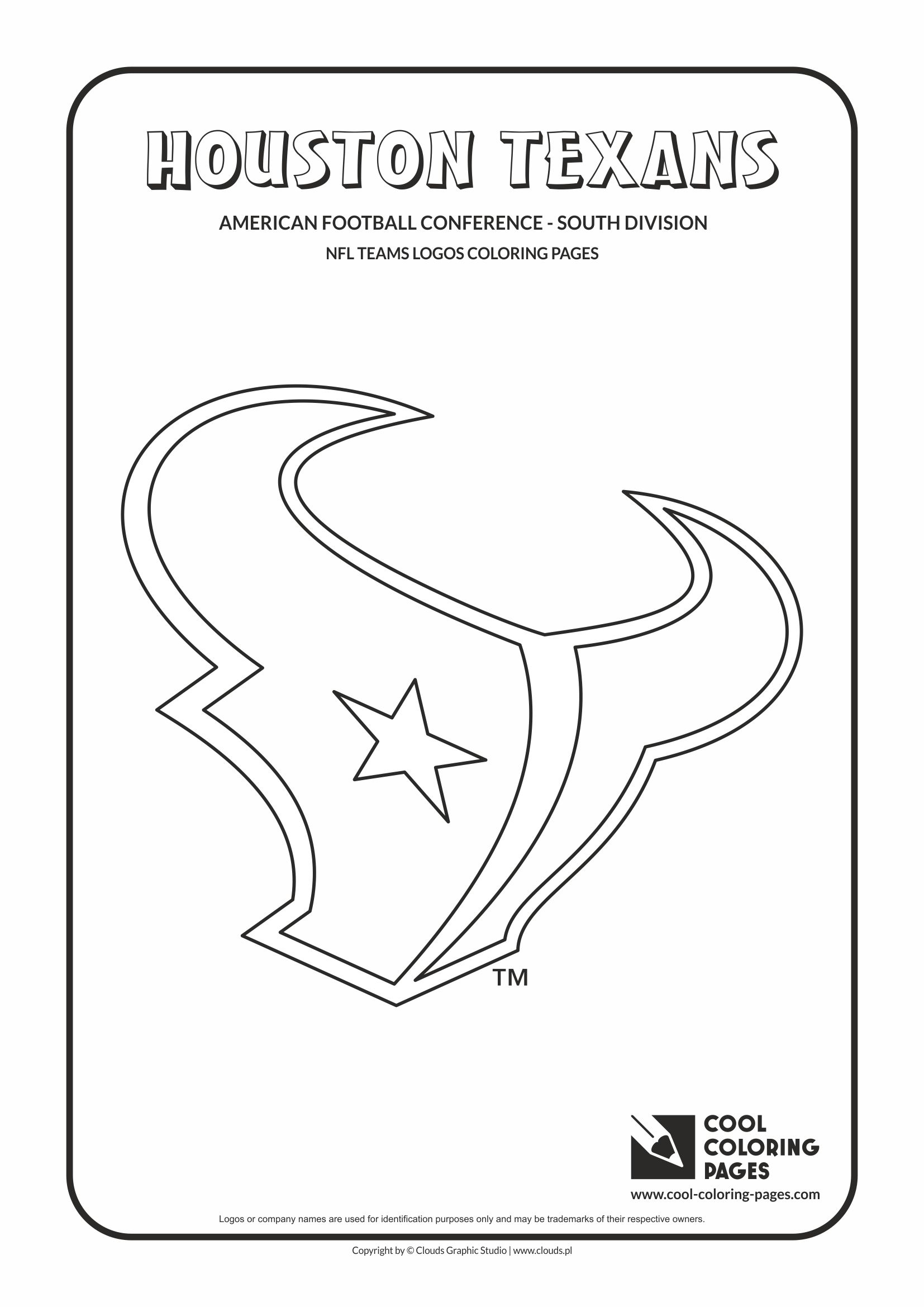nfl football coloring pages - nfl teams logos coloring pages