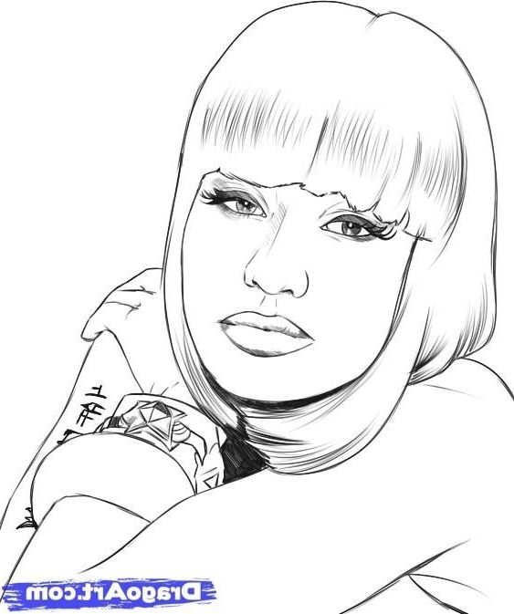 Nicki Minaj Coloring Pages - Nicki Minaj Coloring Pages
