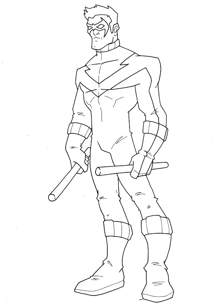 Nightwing Coloring Pages - Nightwing Dragon Coloring Pages Coloring Pages