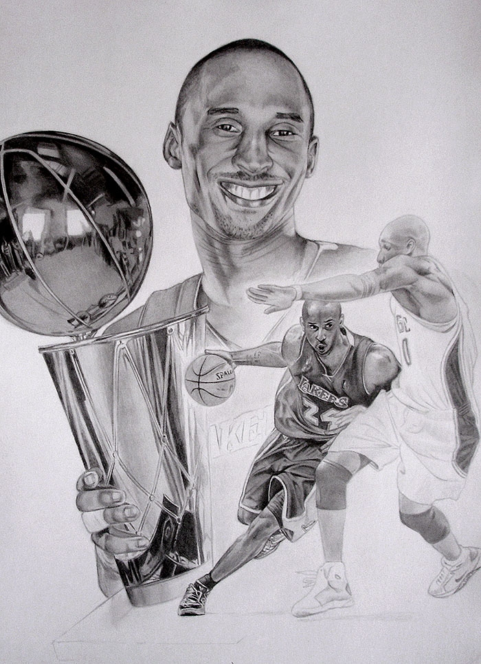 nike coloring pages - Kobe Bryant