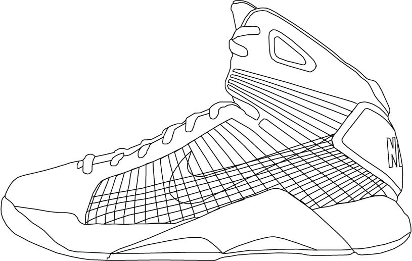 nike coloring pages - shoe art