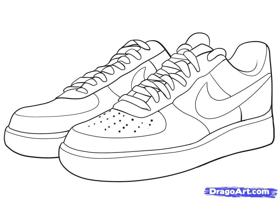 Nike Shoes Coloring Pages - Nike Coloring Pages Az Coloring Pages