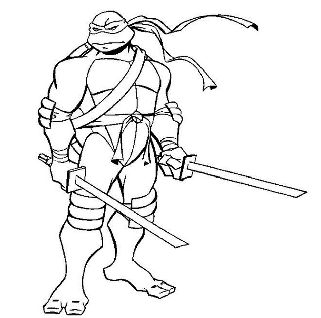 ninja coloring pages - 95