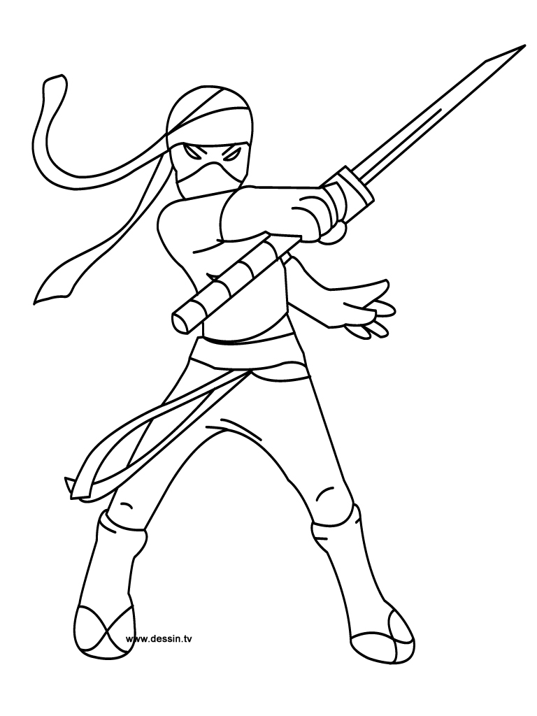 ninja coloring pages - coloring ninja