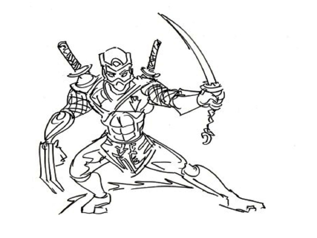 ninja coloring pages - ninja coloring pages