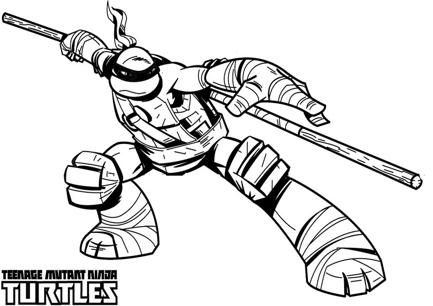 Ninja Turtles Printable Coloring Pages - Ausmalbilder Ninja Turtles 15