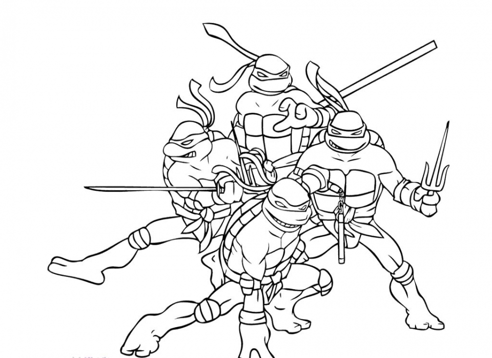 ninja turtles printable coloring pages - teenage mutant ninja turtles coloring pages free printable 9860