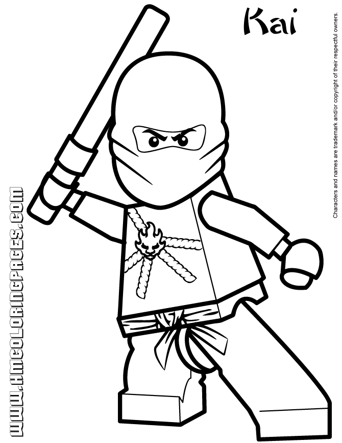 ninjago kai coloring pages - cartoon network ninjago kai