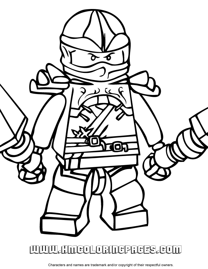 ninjago kai coloring pages - kai ninjago