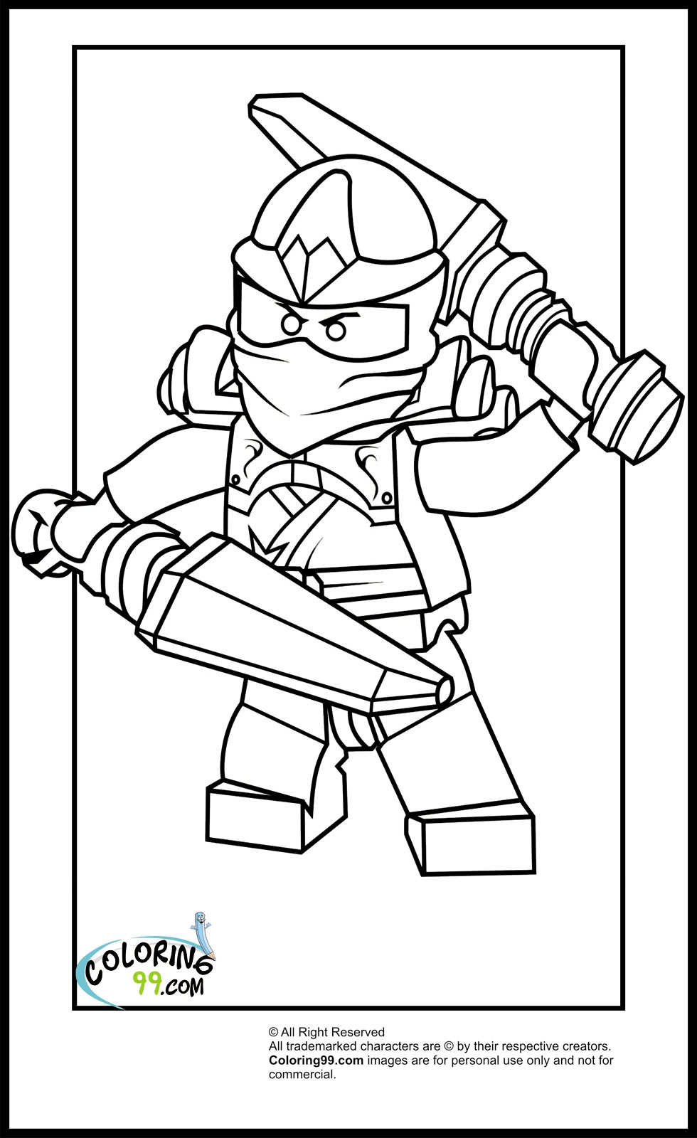 ninjago kai coloring pages - lego ninjago kai coloring pages