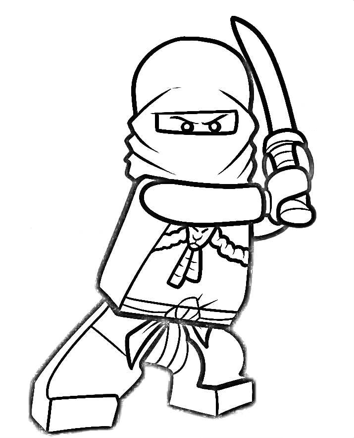 ninjago kai coloring pages - ninjago coloring pages kai