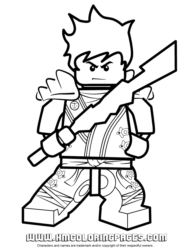 Ninjago Kai Coloring Pages - Ninjago Kai Kx In Kimono Coloring Page
