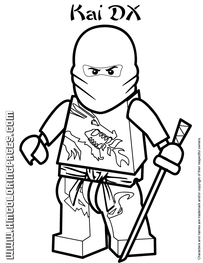 ninjago kai coloring pages - ninjago masters of spinjitzu kai dx