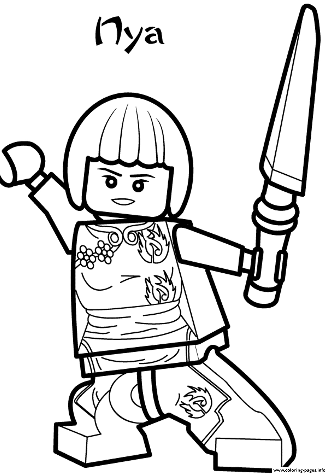Ninjago Printable Coloring Pages - Nya Ninjago Sd2d8 Coloring Pages Printable