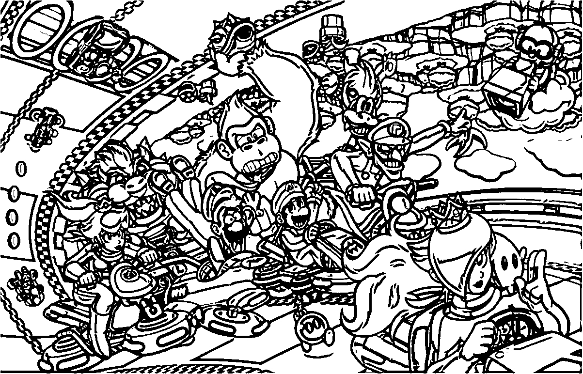 nintendo coloring pages - nintendo coloring page