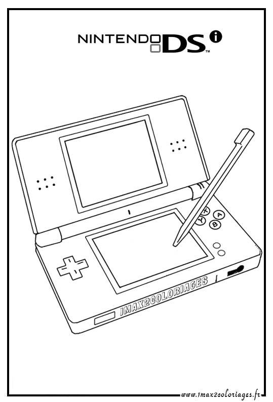 nintendo coloring pages - nintendo ds coloring pages sketch templates