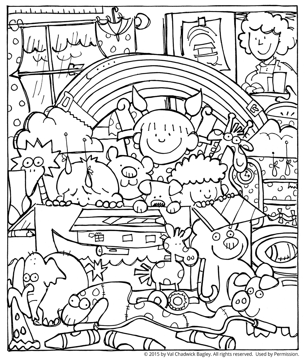 noah and the ark coloring pages - children playing noah ark lang=eng