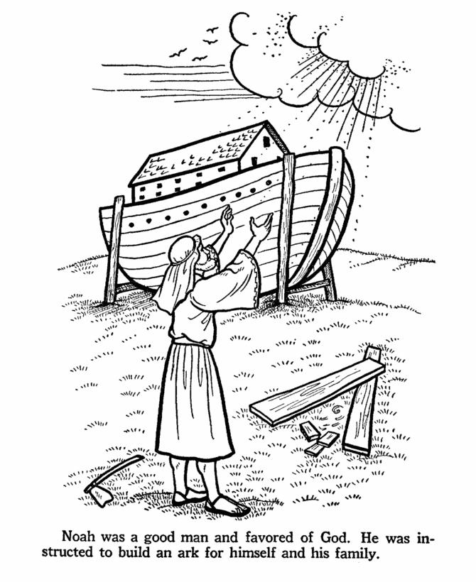 noah and the ark coloring pages - noah ark coloring page