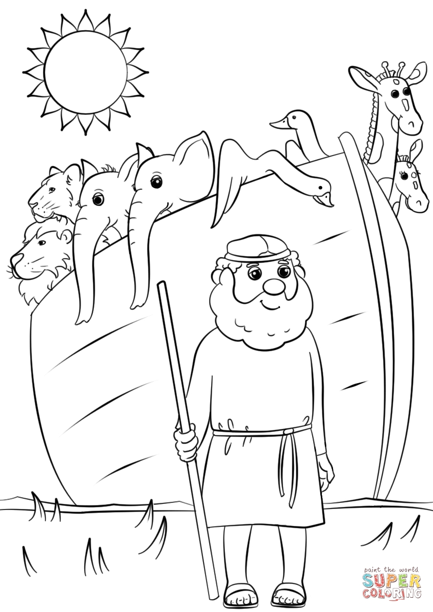 noah and the ark coloring pages - noahs ark animals two by two