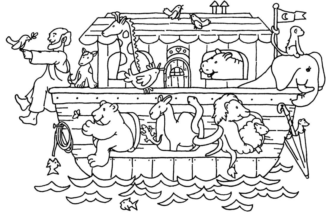 noah and the ark coloring pages -