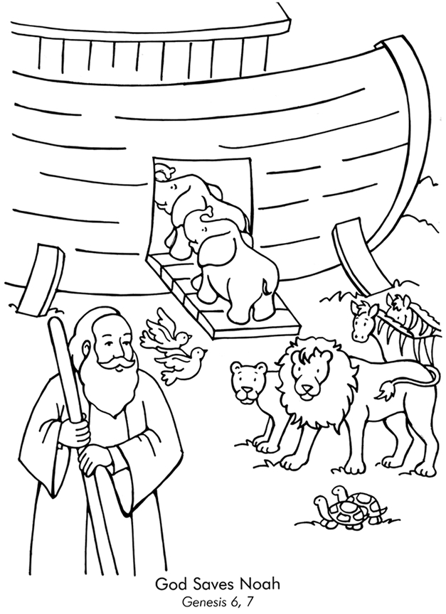 noah and the ark coloring pages - noahs ark colorpg