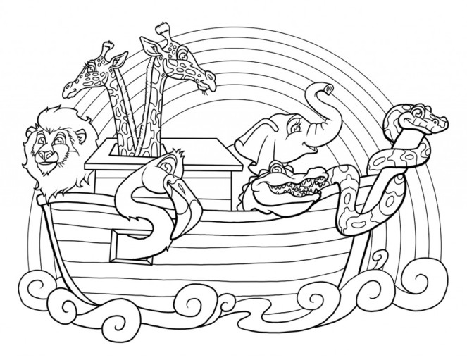 noah and the ark coloring pages noahs ark coloring pages - Noahs Ark Coloring Page 2