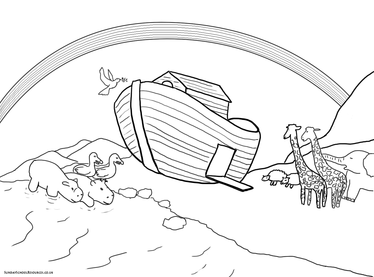 noah and the ark coloring pages - coloring noahs ark