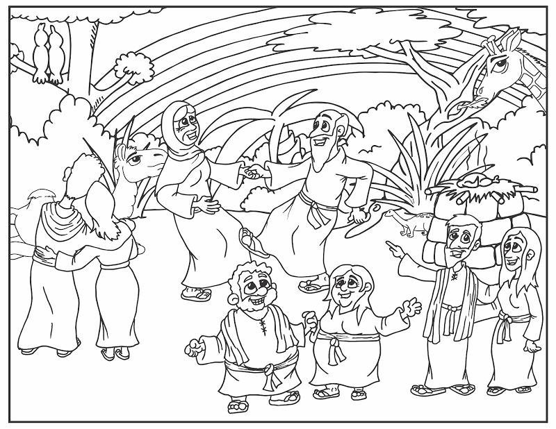 noah coloring page - coloring pages of noah ark