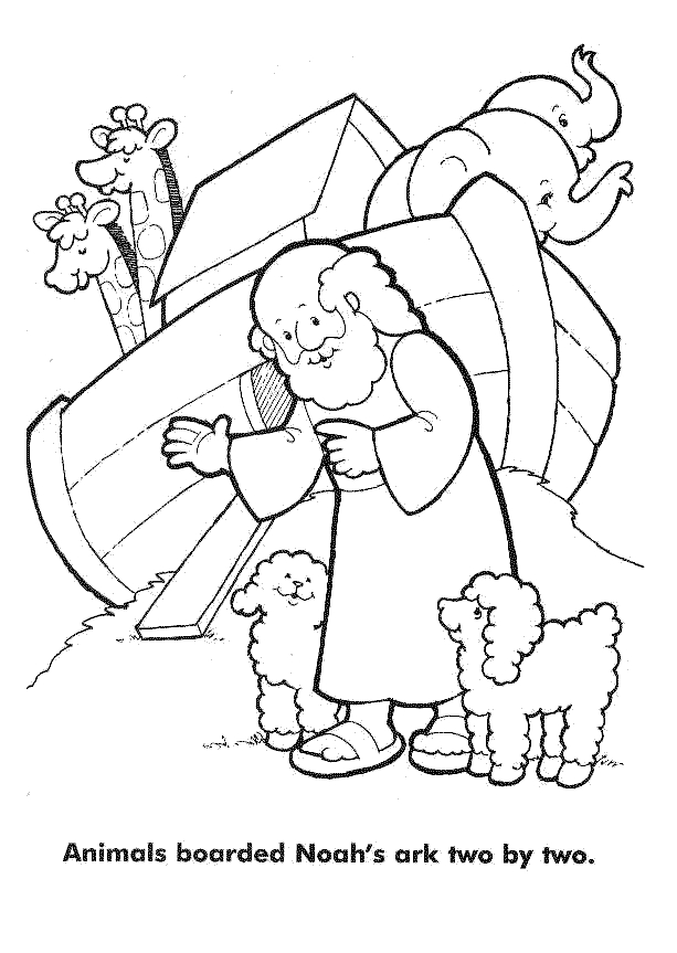 noah coloring page - noah and the flood coloring pages sketch templates