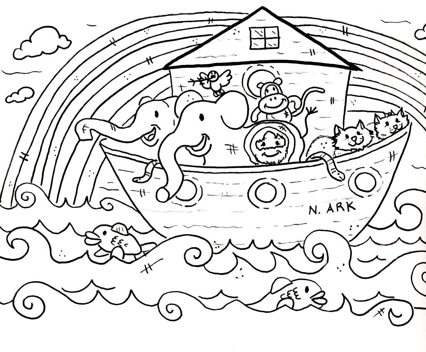 noah coloring page - noahs ark coloring pages sketch templates