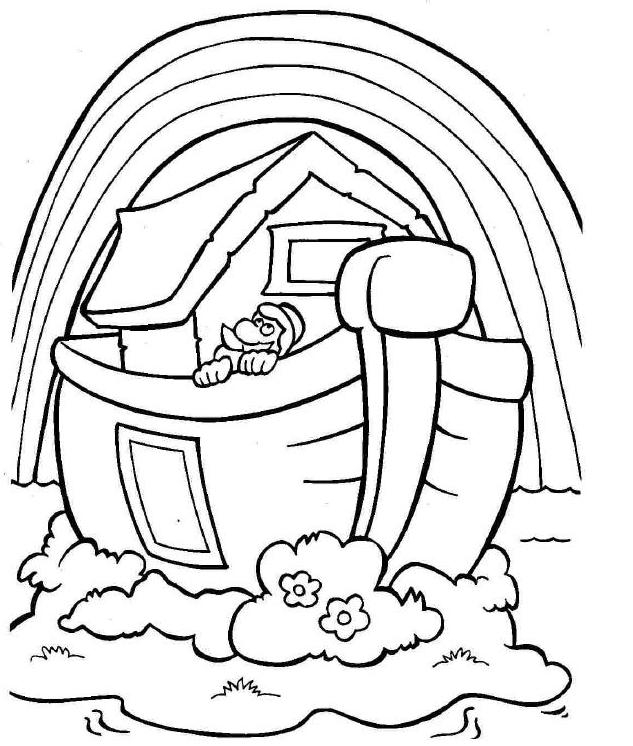 noah coloring page - noahs ark storybook coloring pages sketch templates